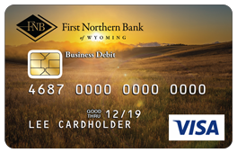 Wyoming Field with Sunset and Mountains in Background Debit Card Design