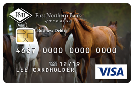 Horses Debit Card Design