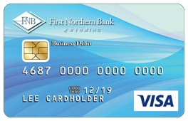 Blue Wavy Debit Card Design