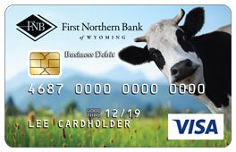 Black and White Cow Debit Card Design