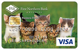 Four Kittens in Grass Debit Card Design