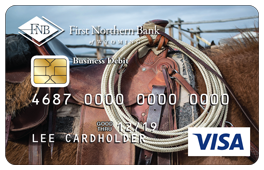 Horse and Saddle Debit Card Design