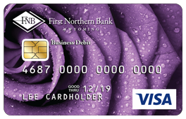 Purple Rose Debit Card Design
